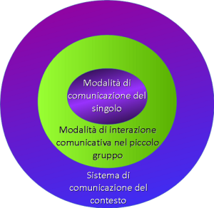 3 cerchi concentrici che individuano il livello micro, meso e macro
